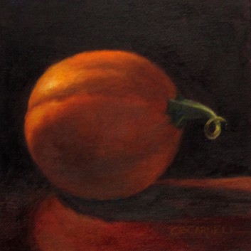 """""""BABY PUMPKIN by Claire Beadon Carnell 100 Paintings in 100 Days Challenge 'Inspirations from a Back """" original fine art by Claire Beadon Carnell"""