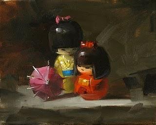 """Sisters"" original fine art by Qiang Huang"