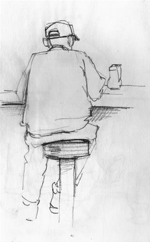 """This morning at the diner..."" original fine art by Kathy Weber"