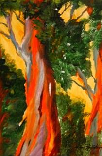 """Trunks"" original fine art by JoAnne Perez Robinson"