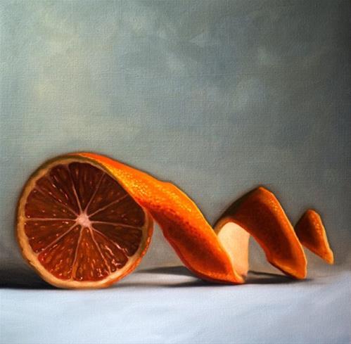 """""""Orange Twist"""" original fine art by Lauren Pretorius"""