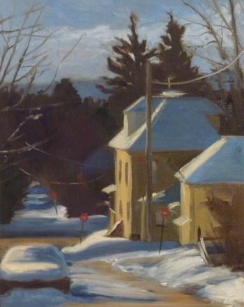 """Snow-covered Car"" original fine art by Jonelle Summerfield"