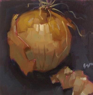 """Peeling"" original fine art by Carol Marine"