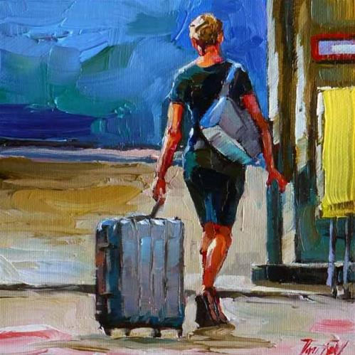 """travelers"" original fine art by Jurij Frey"
