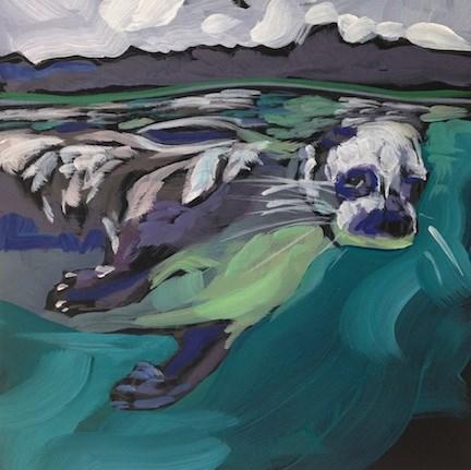 """Surface Lurker"" original fine art by Kat Corrigan"