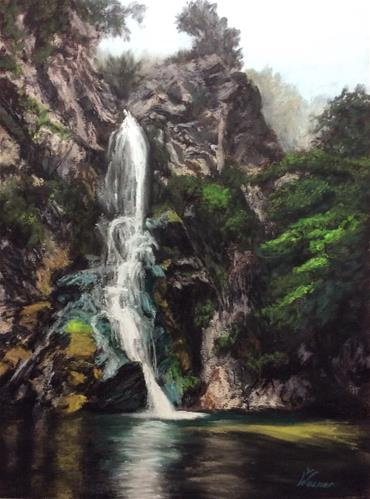"""FALLING WATER"" original fine art by Marti Walker"