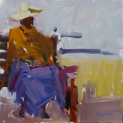 """Rest Stop"" original fine art by James Coulter"