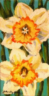 """Daffy Dills"" original fine art by JoAnne Perez Robinson"