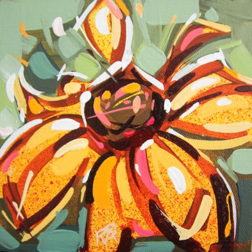 """""""Flower Abstraction 185"""" original fine art by Roger Akesson"""