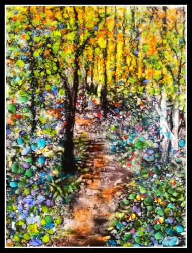 """Spring Forest"" original fine art by Kelly Alge"