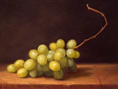 """Green Grapes"" original fine art by Abbey Ryan"