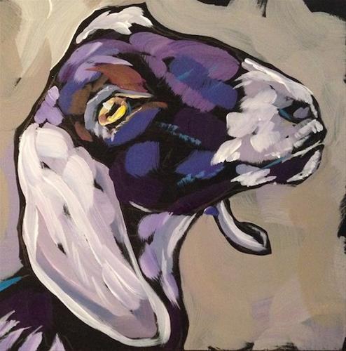 """Get The Goat"" original fine art by Kat Corrigan"