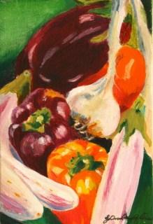 """""""Best of the Farmer's Mkt"""" original fine art by JoAnne Perez Robinson"""