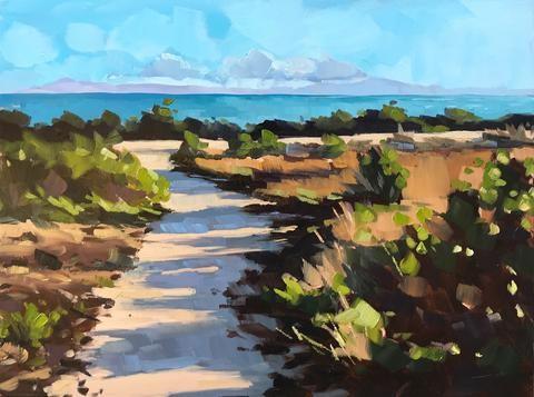 """""""Carpinteria Bluffs Path"""" original fine art by Sharon Schock"""