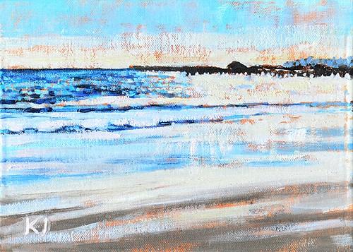 """East Beach, Santa Barbara"" original fine art by Kevin Inman"