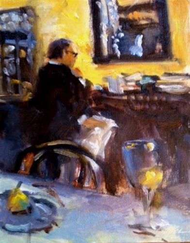 """""""Relaxing, Can Can. Richmond, Virginia"""" original fine art by Connie Snipes"""