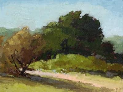 """Beach Path"" original fine art by Laurel Daniel"