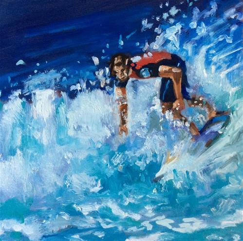 """""""Surfer"""" original fine art by Sonja Neumann"""