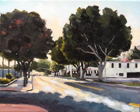 """""""San Luis Obispo Late Afternoon"""" original fine art by Sharon Schock"""