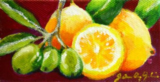 """Kitchen Staples"" original fine art by JoAnne Perez Robinson"