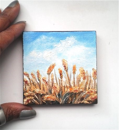 """Wheat Fields"" original fine art by Camille Morgan"