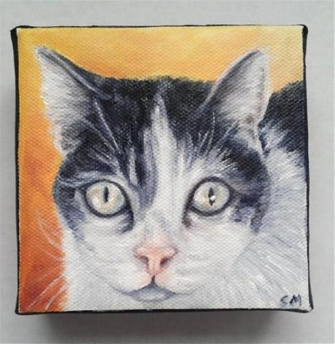 """Memorial Cat Portrait"" original fine art by Camille Morgan"