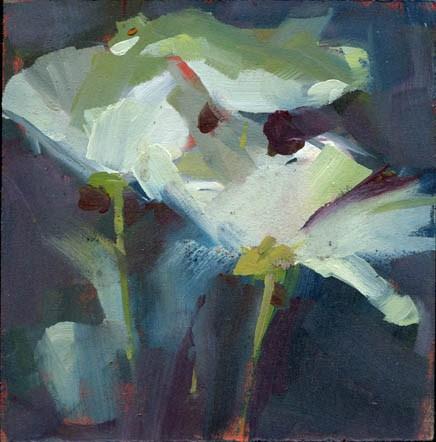 """""""1371 Calling Card"""" original fine art by Lisa Daria"""