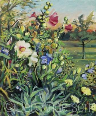 """Oil Painting: Mom's Garden"" original fine art by Deb Anderson"