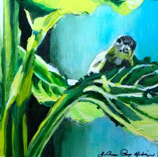 """Landing Pad"" original fine art by JoAnne Perez Robinson"