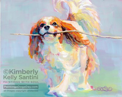 """Name This Painting !!"" original fine art by Kimberly Santini"