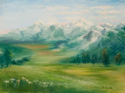 """""""Edelweiss  #1406"""" original fine art by Dee Lessard"""