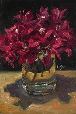 """""""Bougies in a Bottle"""" original fine art by Raymond Logan"""