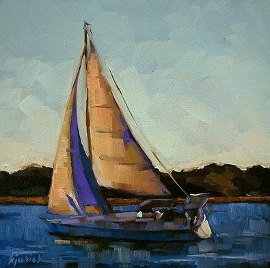 """Smooth Sailing"" original fine art by Karin Jurick"