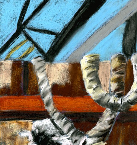 """Boat Rope"" original fine art by Donna Crosby"