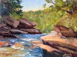 """Above the Falls"" original fine art by Jamie Williams Grossman"