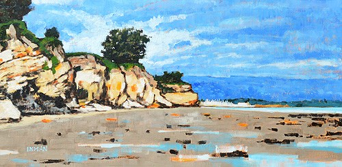 """Leadbetter Beach, Santa Barbara"" original fine art by Kevin Inman"