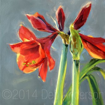 """Oil Painting: Amaryllis"" original fine art by Deb Anderson"