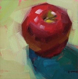 """Apple #854 & more workshop photos --- SOLD"" original fine art by Carol Marine"