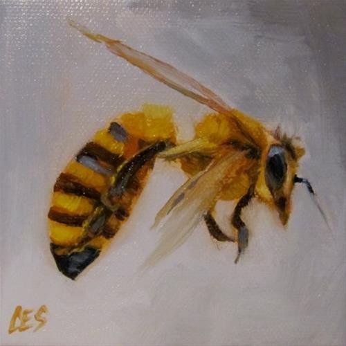 """""""Honey Bee"""" original fine art by ~ces~ Christine E. S. Code"""