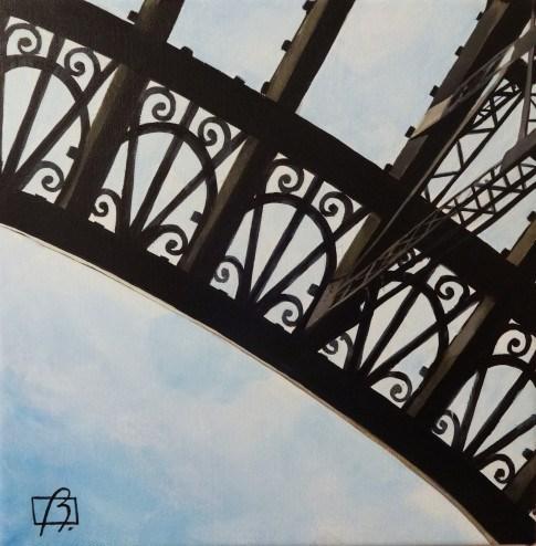"""""""Eiffel Tower Detail"""" original fine art by Andre Beaulieu"""