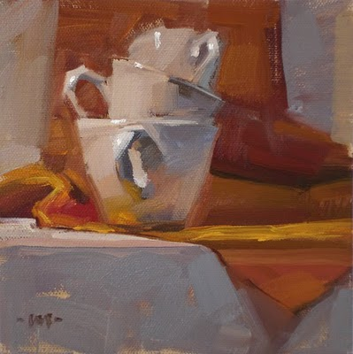 """Nesting Cups"" original fine art by Carol Marine"