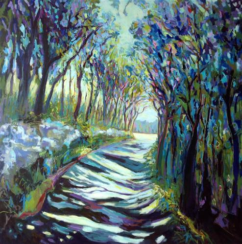 """Path to Croagne"" original fine art by Patricia MacDonald"