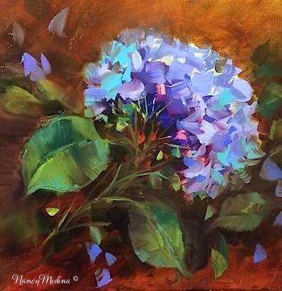 """Echo Blue Hydrangea - Flower Paintings by Nancy Medina"" original fine art by Nancy Medina"