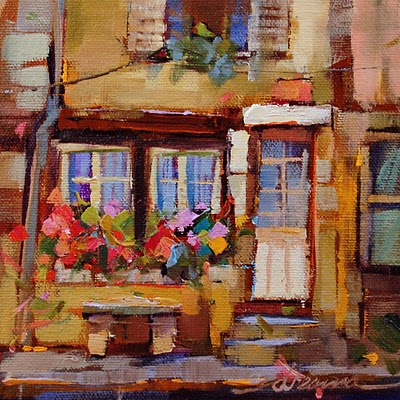"""""""A Brush with France SOLD"""" original fine art by Dreama Tolle Perry"""