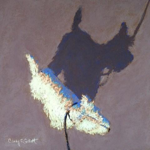"""""""Little Buddy 2"""" original fine art by Cindy Gillett"""