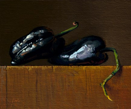 """""""Fresh-picked Poblano Peppers from Red Earth Farm"""" original fine art by Abbey Ryan"""