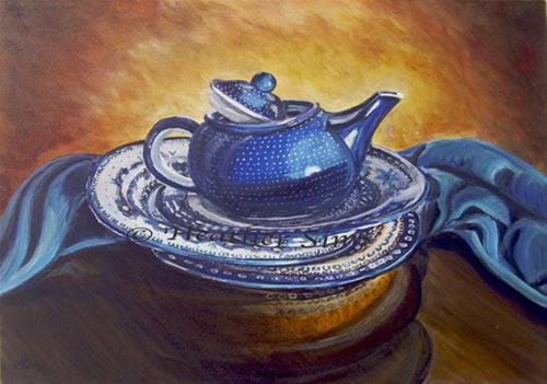 """CA Stacked: Polish Pottery XXXVIII"" original fine art by Heather Sims"