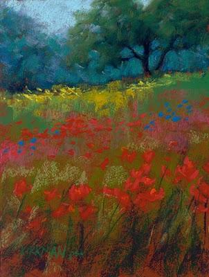 """""""Wildflower Fields #31"""" original fine art by Rita Kirkman"""