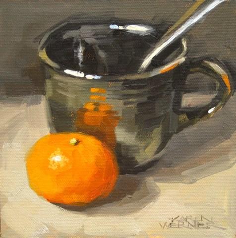 """""""Cup 'n Cutie"""" original fine art by Karen Werner"""