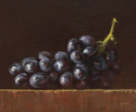 """""""Grapes in Afternoon Sun No. 2"""" original fine art by Abbey Ryan"""